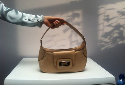 LENOR GRIECHENLAND :: Leder Handtasche für kleine Konzentrat Flasche