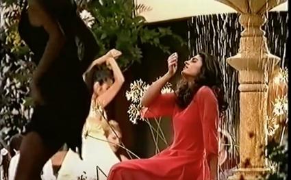 GABRIELLA SABATINI :: BOLERO - special designed red dress for her first parfume