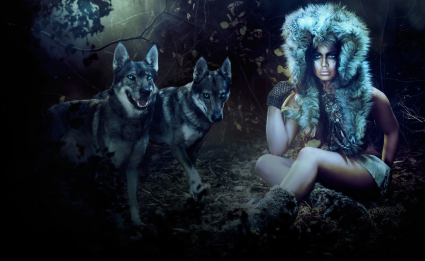 SILENCE CALENDAR :: WOLF WOMAN - hand-made costume faux fur